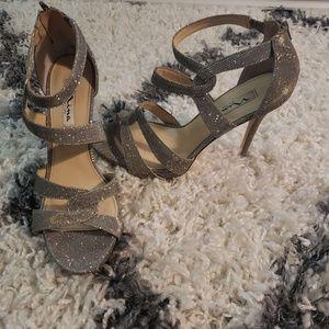 Nina strappy silver sandal
